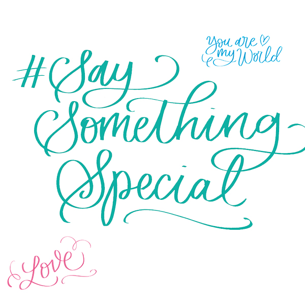 #SaySomethingSpecial With Manuscript