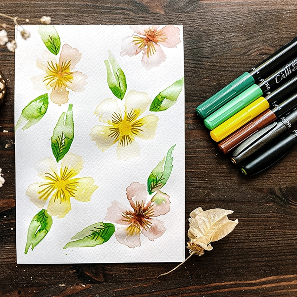 How to to create your own watercolour flowers!